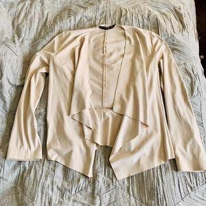 Zara Faux Suede Waterfall Jacket